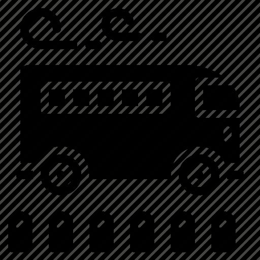 Bus, passenger, school, stop, transportation icon - Download on Iconfinder