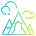 hill, landscape, mountain, nature, peak icon