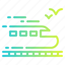 railway, subway, track, train, vehicle icon