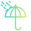 beach, rain, summer, umbrella, weather icon