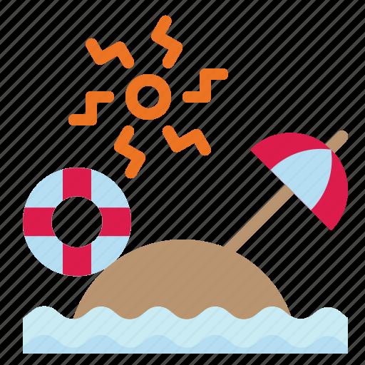 Beach, sand, summer, umbrella, vacation icon - Download on Iconfinder