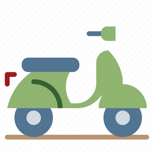 Motorcycle, scooter, transportation, vespa, vintage icon - Download on Iconfinder