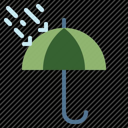 beach, rain, summer, umbrella, weather icon