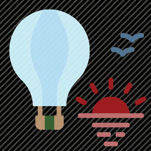 Fly, balloon, transportation, hot, air icon