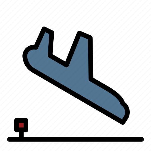 Airplane, arrival, fly, landing, transport icon - Download on Iconfinder