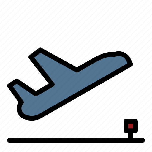 Airplane, airport, departure, flight, off, take icon - Download on Iconfinder