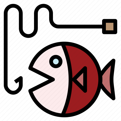 catch, fisherman, fishing, hobby, hook icon