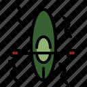 boat, canoe, kayak, kayaking, paddle icon