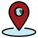 location, map, navigation, pin, pointer icon