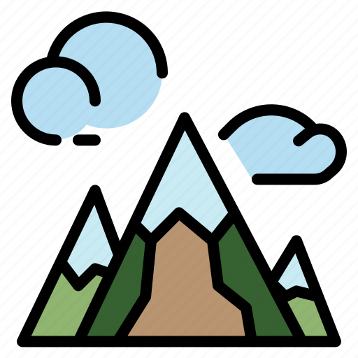 Hill, landscape, mountain, nature, peak icon - Download on Iconfinder