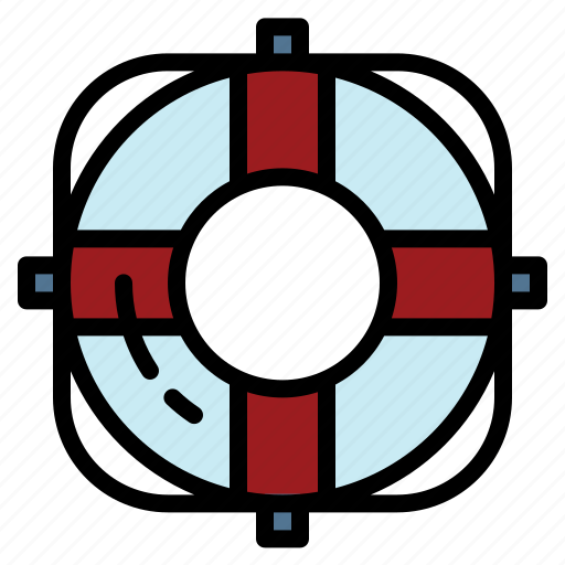 float, ring, safety, swimming, tube icon