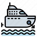 boat, cruise, marine, ship, yacht icon