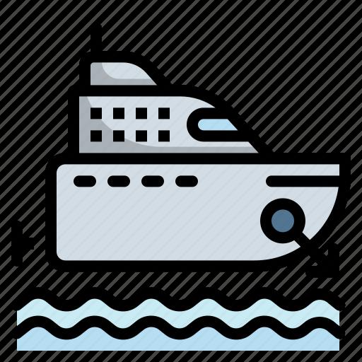 boat, cruise, marine, ship, yacht icon