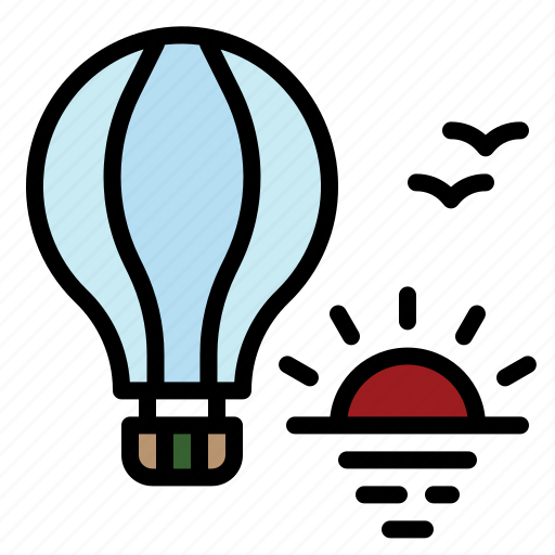 Air, balloon, fly, hot, transportation icon - Download on Iconfinder