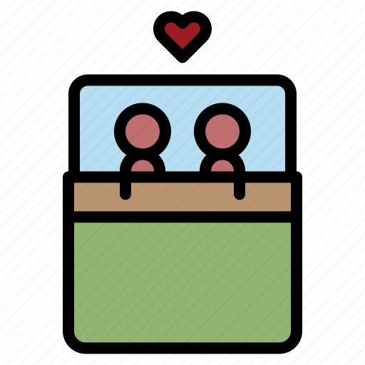 Bed, couple, honeymoon, love, romance icon - Download on Iconfinder