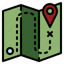 destination, gps, location, map, point icon