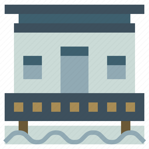 acations, buildings, holidays, home, hotel, resort, trip icon