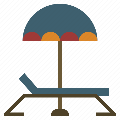 beach, holidays, summer, sun, sunbed, umbrella, vacations icon
