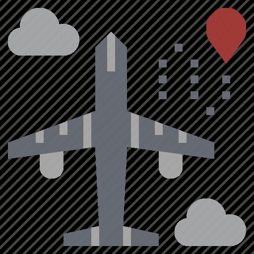 aeroplane, airplane, airport, flight, plane, transport, travel icon