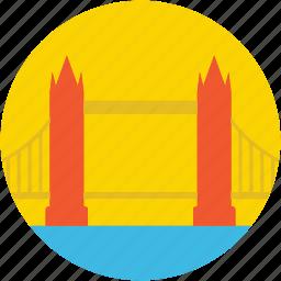 architecture, landmark, london, monument, tower bridge icon