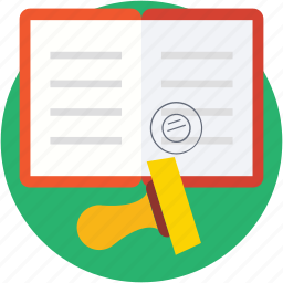 attestation, authorization, letter stamp, stamp, stamp tool icon
