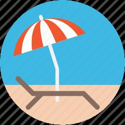 beach, sunbathe, sunshade, tanning, umbrella icon