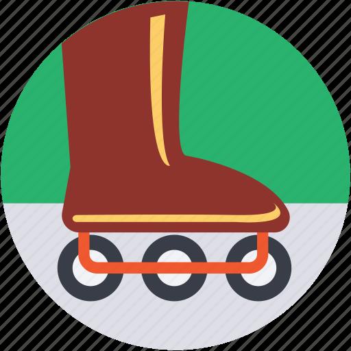 inline skates, roller skates, skate shoes, skates, skating boot icon