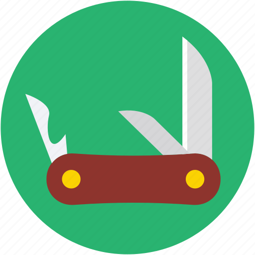 army knife, cutting tool, jack knife, pocket knife, swiss knife icon