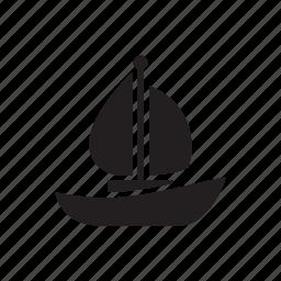 boat, ocean, sea, ship, travel icon