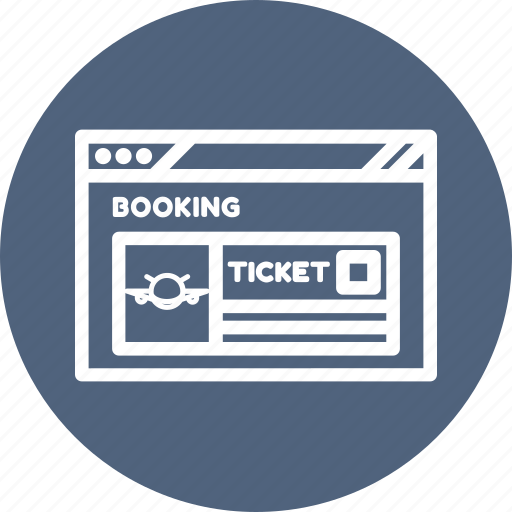 Booking Browser Flight Internet Ticket Webpage Website Icon
