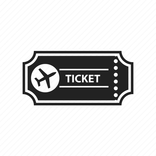 airplane, airport, plane, ticket icon