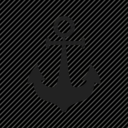 anchor, marine, nautical, port, sea, ship, travel icon