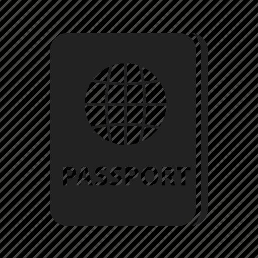 document, documents, pass, passport, visa icon