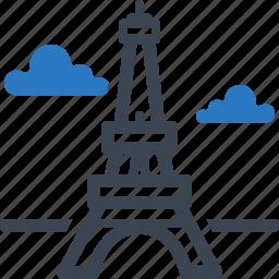 eiffel tower, landmark, monument icon
