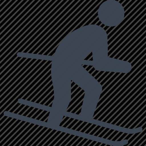 ski, skiing, sports icon
