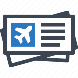plane ticket, tickets, travel icon