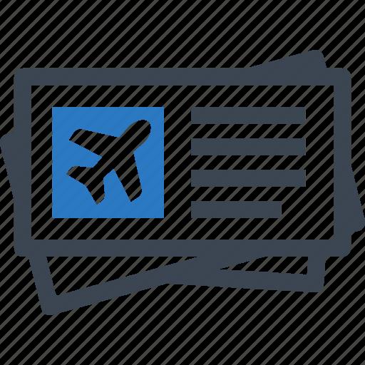 Tickets, plane ticket, travel icon