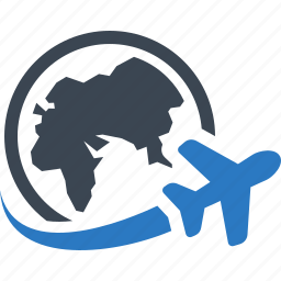 plane, shipping, traveling, wolrldwide icon
