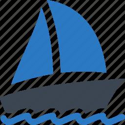 holiday, travel, vacation, yacht icon