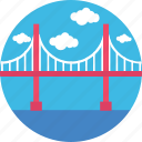 bridge, landmark, monument, thomas bridge, travel icon
