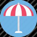 beach umbrella, sunshade, canopy, parasol, umbrella icon