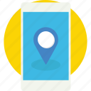 gps device, gps tracker, map pin, mobile, navigation icon