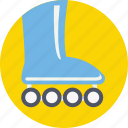 inline skates, roller skates, skate shoes, skates, skating boot icon