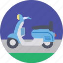 motor scooter, scooter, transport, travel, vespa icon