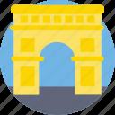 arch, arch of titus, arch of triumph, landmark, monument icon