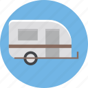transport, convoy, living van, caravan, living vehicle icon