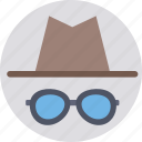 costume, hat, party props, sunglasses, hipster