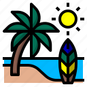 beach, coconut, sea, summer, travel