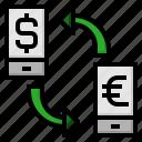 cash, exchange, money, travel icon