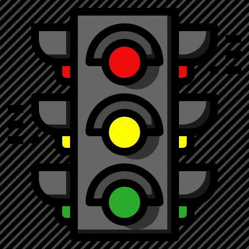 traffic, trafficlight, travel icon